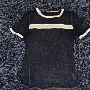 Tops - Navy with white t shirt - size M